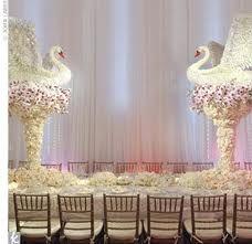 Beautiful Wedding Reception Decoration Ideas - Put the Ring on It Wedding Reception Centerpieces, Wedding Favours, Wedding Cards, Wedding Decorations, Wedding Receptions, Wedding Ideas, Preston Bailey Wedding, Swan Lake Wedding, Lake Party