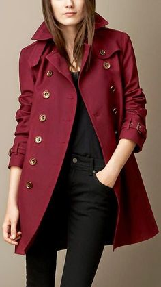 19b6f6fd21fa Marsala! Pantone s Color of the Year! Mantel Trenchcoat