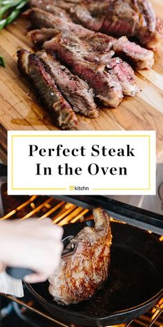 How to cook steak perfectly in the oven. It is easy to cook a juicy steak with a crisp, peppery crust in the oven, you definitely don't need to grill steak in order for it to taste good. This easy and simple steak starts on the stovetop in a cast[. Cooking T Bone Steak, Oven Cooking, How To Cook Steak, T Bone Steak Recipe In Oven, Cast Iron Steak Oven, Sear And Bake Steak, How To Broil Steak, Steak Tips In Oven, Recipes