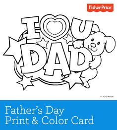 Fathers Day Is Coming Soon Download This Printable Card And Have The Kiddos Add Their Creativity