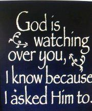 God is watching over you. I know because I asked Him too!!!!!!!!! Both of ya {all four!} Eight