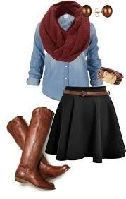 Image result for skirt outfits for fall