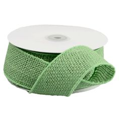 Eco friendly green burlap ribbon with wired edges will be the perfect accessory for your decor. Consider decorating your burlap with our beautiful selection of lace ribbon