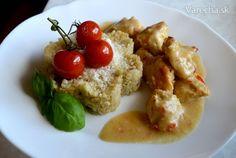 Morčacie kúsky v marináde z medu, chilli, limetky a horčice, s hubovým bulgurom - Recept