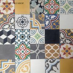 Cement Tile Shop - Encaustic Cement Tile - Patchwork Pattern