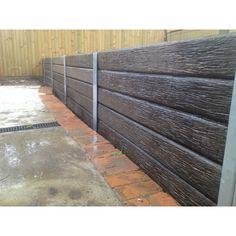 Ridgi 150 x 50mm 1.5m Woodgrain Concrete Sleeper