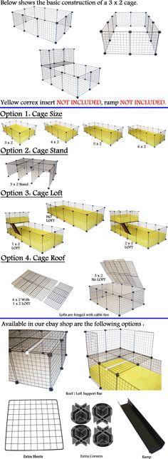 C&C GUINEA PIG CAVY LARGE INDOOR PLAY PEN CAGE CUSTOM BUILD METAL GRID MESH CUBE | eBay