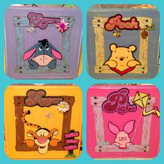 Cricut# pooh and friends cartridge# paper# scrapbooking # nursery# gifts