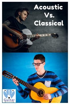 The problem with acoustic and classical guitars is that they look and sound very close to each other. And it gets even more difficult to separate the two when you don't even know what to look for! Easy Guitar, Guitar Tips, Cool Guitar, Best Acoustic Guitar, Guitar Chords, Guitar Lessons For Kids, Classical Guitars, Types Of Guitar, Cool Electric Guitars