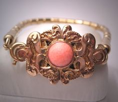 Victorian gold and coral