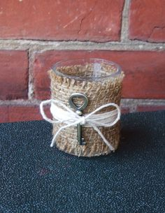 Hey, I found this really awesome Etsy listing at https://www.etsy.com/listing/162051407/votive-candle-holder-burlap-and-skeleton