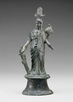 Statuette of Isis-Fortuna; Unknown; Roman Empire; 2nd century; Bronze; 19 cm (7 1/2 in.); 71.AB.180; J. Paul Getty Museum, Los Angeles, California