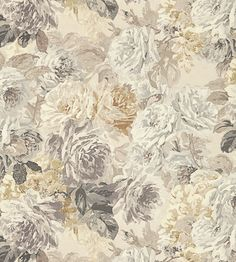 Trend | Painterly Florals | Rose Absolute Fabric by Zoffany l TM Interiors Limited