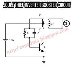 Joules Thief Circuit Diagram | Joule Thief 1 5v To 12v Led Light Circuit Super Hemat Electronice