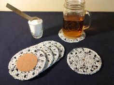 """Free Pattern and Tutorial: """"Fmelted Plarn"""" coasters   Crochet is the Way"""