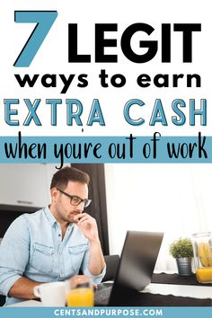 Looking for legit ways to earn money from home? Here's 7 ideas to help you earn extra cash while you're social distancing. These may not replace a full-time income if you lost your job but are a great way to start an easy side hustle with your extra time! Ways To Earn Money, How To Get Money, Money Tips, Money Saving Tips, Cash From Home, Earn Money From Home, Earn Money Online, Earn Extra Cash, Extra Money
