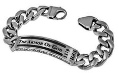 Cable-Armor of God (Eph 6:11) (Mens) Sz 8, Bracelet