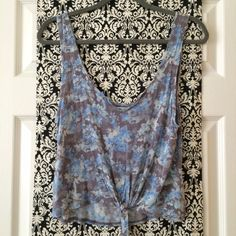 Urban Outfitter | Light Blue Tank Tie front Tank Top. Blue floral pattern. Barely Worn!! Urban Outfitters Tops Tank Tops