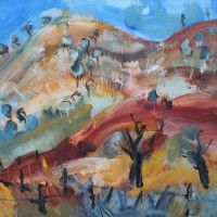1.Denis Clarke, Sofala Road 1, 2012, Acrylic on Canvas, 135x145cm - $6500 Stanley Street Gallery