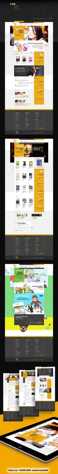 HMH - Houghton Hifflin Harcourt (Conceptual design) by Leo Van, via Behance *** #web #design #behance