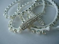 Handmade Rhinestone and Pearl Wrap Bracelet. Starting at $10 on Tophatter.com!