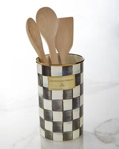 Courtly Check Utensil Holder by MacKenzie-Childs at Horchow.