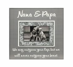 Grandparent Gift from Grandchildren  Picture Frame by MemoryScapes