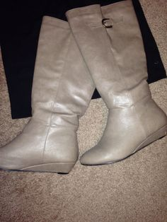 Taupe boots!! I absolutely love them!