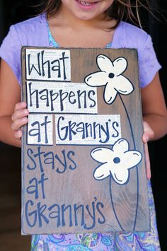 what happens at grandmas wood sign by Slight Imperfections