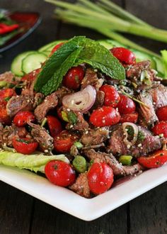 Recipe for Thai Beef Salad - Remove nightshades for #aip #paleo