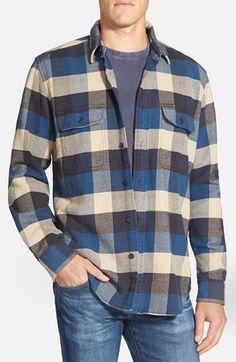 Filson 'Vintage' Twill Flannel Shirt