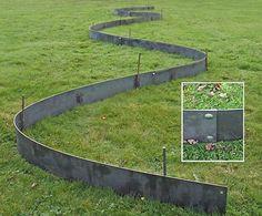 metal lawn edging cover