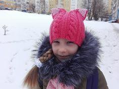 вязание шапки спицами/How to Knit a HAT/DIY - YouTube