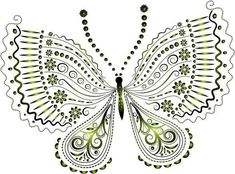 """Photo from album """"Рисованные бабочки"""" on Yandex. Butterfly Mandala, Butterfly Clip Art, Butterfly Mobile, Butterfly Dragon, Butterfly Pictures, Butterfly Cards, Crown Template, Heart Template, Butterfly Template"""