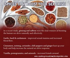 Ever want to increase your sex drive without trying those chemically induced product? How about mixing some spices together and making a lovely meal with arugula and oysters? Find out all the great spices to up your sex drive naturally.