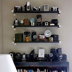 Cameras on shelf. Yes.