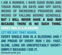 To be able to Run is a blessing!