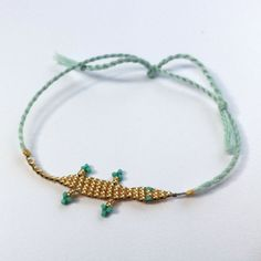 Beaded Lizard Friendship Bracelet