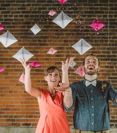 Geometric Honeycomb Decoration Backdrop - Confetti Pop