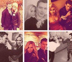 Joseph Morgan and Claire Holt :)) They're like real brother and sister