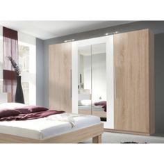 Šatní skříň VERA dub sonoma/bílá 22FADH20 Grande Armoire, Divider, Bed, Room, Furniture, Home Decor, The Great Outdoors, Attic Spaces, Puertas