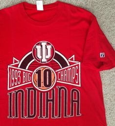 d131a185af9  AS IS  Rare vtg 1993 INDIANA HOOSIERS BIG TEN CHAMPS T-SHIRT logo 7 iu  ADULT XL  Logo7  IndianaHoosiers