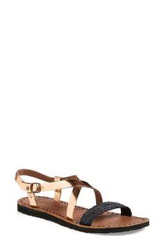 UGG®+Australia+'Jordyne'+Metallic+Leather+Sandal+(Women)+available+at+#Nordstrom