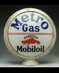 Old style-porcelain look Mobiloil gargoyle dealer sales service large sign NICE