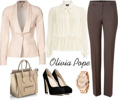 Gladiator in a Suit (Inspired by Olivia Pope) Office Outfits, Casual Outfits, Fashion Outfits, Work Outfits, Professional Wardrobe, Work Wardrobe, Pink Beige, Olivia Pope Style, Look Office