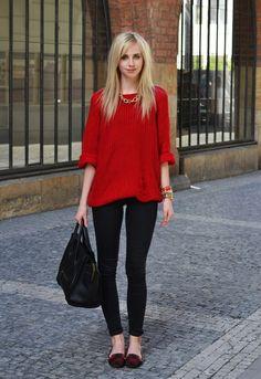 sweater -Romwe/skinny -Topshop /loafers -Zara /bag -Céline /necklace -Romwe/watch -Michael Kors /bracelets -Topshop, H