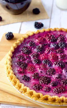 easy-blackberry-custard| HollysCheatDay.com