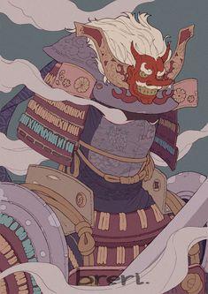 Japanese Art Styles, Japanese Drawings, Japanese Artwork, For Honor Samurai, Ronin Samurai, Gatos Cool, Samurai Artwork, Japanese Warrior, Geek Art