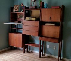 TERRIFIC MID CENTURY MAD MEN WALL UNIT POUL CADOVIUS Style *No Reserve* Wow!!