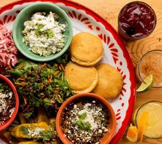 teote areperia - (latin american) great place to bring large groups because there is lots of space, a great patio with fire pit, and reasonable prices. hours: sun-thurs 11am-10pm fri-sat 11am-11pm happy hour (3-6) brings $5 arepas and $2 off margaritas. try the mescal margarita! also, they deliver http://www.teotepdx.com/